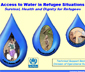 "Folleto del ACNUR titulado: ""Access to Water in Refugee